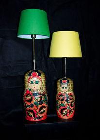 Russisch, Licht, Lampe, Holzpuppe
