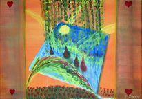 Acrylmalerei, Abstrakt, Malerei,
