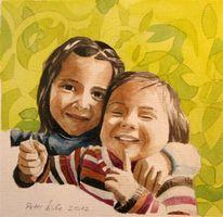 Fröhlichkeit, Geschwister, Schwestern, Kinder