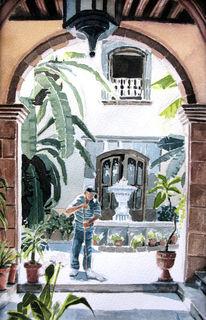 Aquarellmalerei, Mexiko, Wärme, Sonne