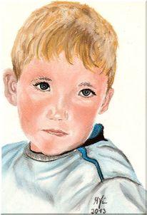 Portrait, Pastellmalerei, Portraitzeichnung, Zeichnung