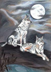 Hundezeichnung, Portrait, Hund, Zeichnung