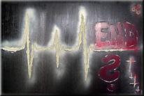 Himmel, Graffiti, Sprühfarbe, Tod