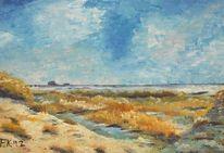 Acrylmalerei, Urlaub, Nordsee, Impressionismus