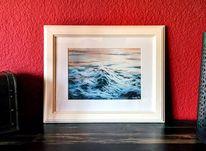 Stimmung, Welle, Wasser, Acrylmalerei