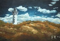 Leuchtturm, Impressionismus, Dünen, Küste