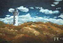 Strand, Leuchtturm, Impressionismus, Dünen