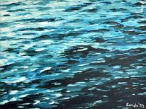 Welle, Blau, Wasseroberfläche, Acrylmalerei
