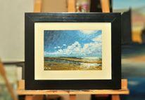 Impressionismus, Watt, Blau, Wattenmeer