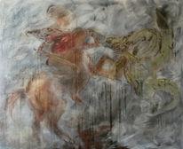 Kampf drachen, Malerei, Kampf