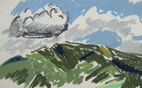 Berge, Schwarzwald, Malerei