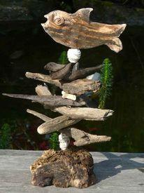 Dekoration, Terasse, Keramik, Fisch