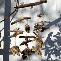 Turtles, Keramik, Schwemmholz, Terasse