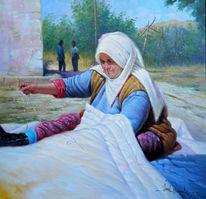 Frau, Person, Gemälde, Figur