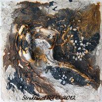 Marmormehl, Tusche, Zeitgenössische kunst, Beize