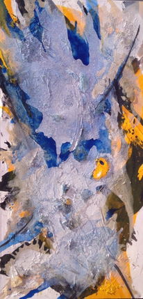 Acrylmalerei, Blau, Marmormehl, Malerei