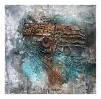 Aquarellmalerei, Acrylmalerei, Marmormehl, Granulat