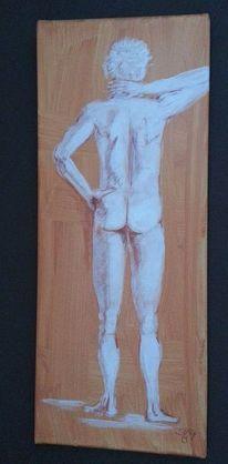 Acrylmalerei, Rötel, Kreide, Malerei