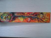 Acrylmalerei, Malerei, Pflanzen, Baum