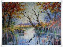 Malerei, Flusslandschaft