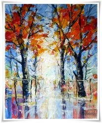 Malerei, Park, Herbst