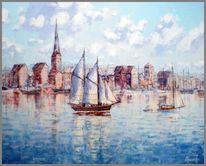 Hafen, Malerei