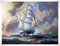 Malerei, Segelschiff