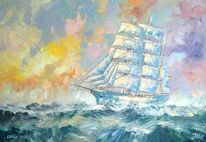 Segel, Segelschiff, Schiff, Atlantik