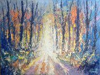 Herbstweg, Wald, Waldweg, Landschaft