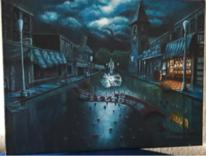 Malerei, Acrylmalerei, Fantasie, Stadt