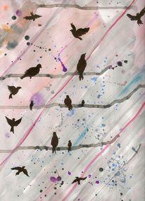 Strommast, Krähe, Freiheit, Vogel