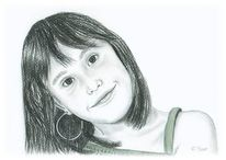 Portrait, Kind, Mädchen, Zeichnungen