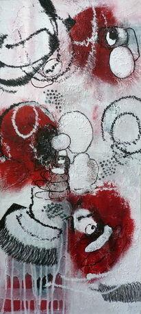 Kreis, Weiß, Intuition, Rot schwarz