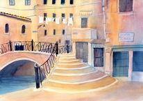Stadt, Rot, Orange, Venedig