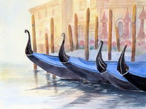 Aquarell, Venedig