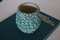 Glasur, Blau, Keramik, Ton