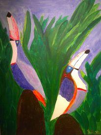 Tukan, Acrylmalerei, Malerei, Karneval