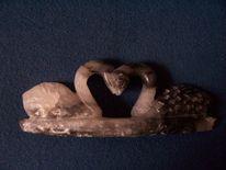 Speckstein, Tiere, Skulptur, Plastik