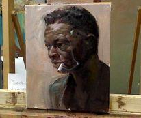 Portrait, Farben, Ölmalerei, Alla prima