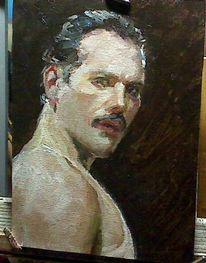 Alla, Prima, Ölmalerei, Portrait