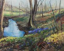 Impressionismus, Landschaft, Modern, Frühlingblüten