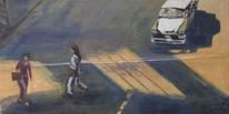 Malerei, Straße, Licht, Stadt
