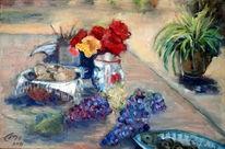 Stillleben, Brot, Impressionismus, Italien