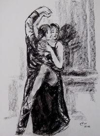 Zeichnung, Tänzer, Menschen, Tanz