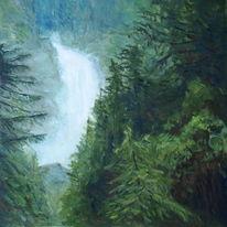 Landschaft, Natur, Malerei, Gemälde