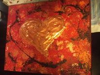 Herz bronze liebe, Malerei, Corazon