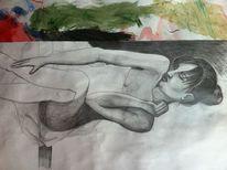 Akt, Zeichnung, Menschen, Frau