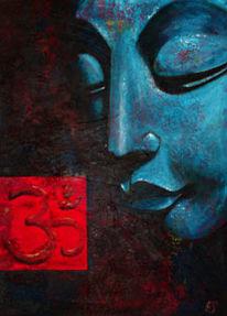 Meditation, Acrylmalerei, Buddha, Malerei