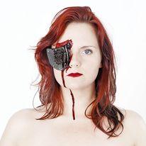 Frau, Absatz, Blut, Augen