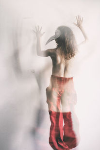 Maske, Schattenspiel, Rücken, Bewegung